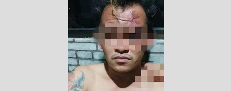 Sok Jago di Depan Warga, Pria Bertato Ini Langsung Ciut Didatangi Polisi, Tuh Mukanya