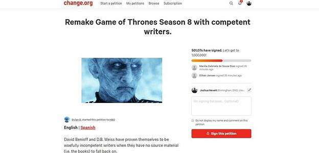 500 Ribu Fans Bikin Petisi Minta Game of Thrones Season 8 Dibuat Ulang