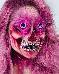 Foto: Seramnya Makeup Bentuk Tengkorak yang Viral di Instagram