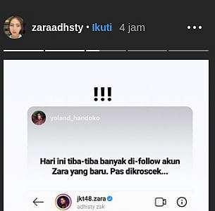 Bikin Instagram Baru, Adhisty Zara Geram Disebut Kacang Lupa Kulit