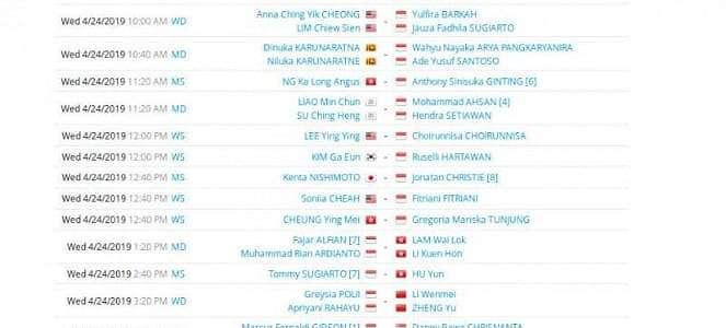 Ingat, Ada 22 Pebulutangkis RI Tempur Siang Ini di Kejuaraan Asia