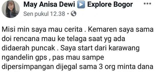 Viral, Wisatawan Dipalak Remaja di Bogor