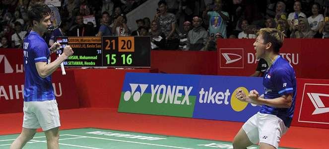 Beringas, Kevin/Marcus Pertahankan Gelar Juara Indonesia Masters