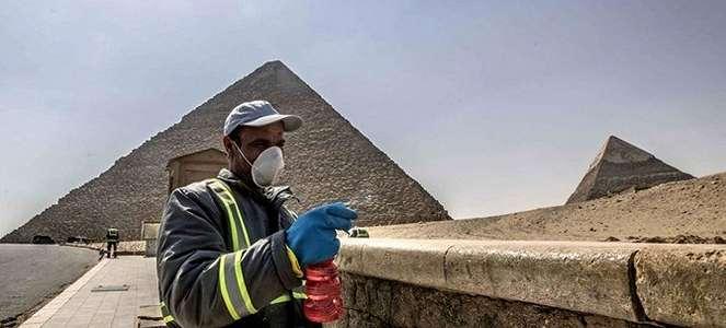 Penampakan Piramida Mesir Disemprot Disinfektan karena Wabah COVID-19