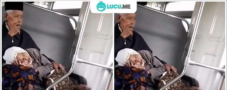 Video Nenek Tidur Di Pangkuan Kakek Ini Bikin Warganet Baper