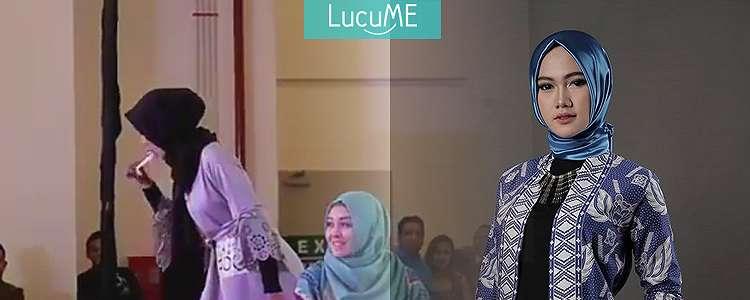Tsadeest, Hijaber Cantik Ini Unjuk Kebolehan Makan Lampu Neon