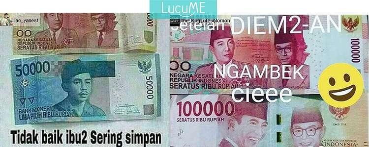 10 Meme 'Gara-gara Uang' Ini Kocaknya Bikin Mata Jadi Ijo