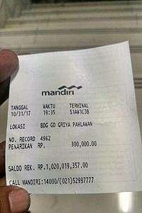 Kisah Inspiratif di Balik Postingan Pamer Struk ATM Rp 1 Miliar